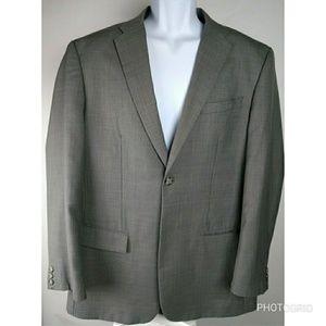 Men's Perry Ellis 44R gray suit jacket